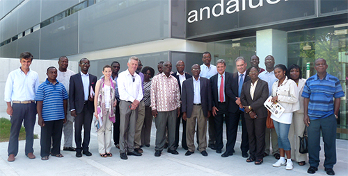Los Rectores de las Universidades de Ghana visitan Andalucía Lab