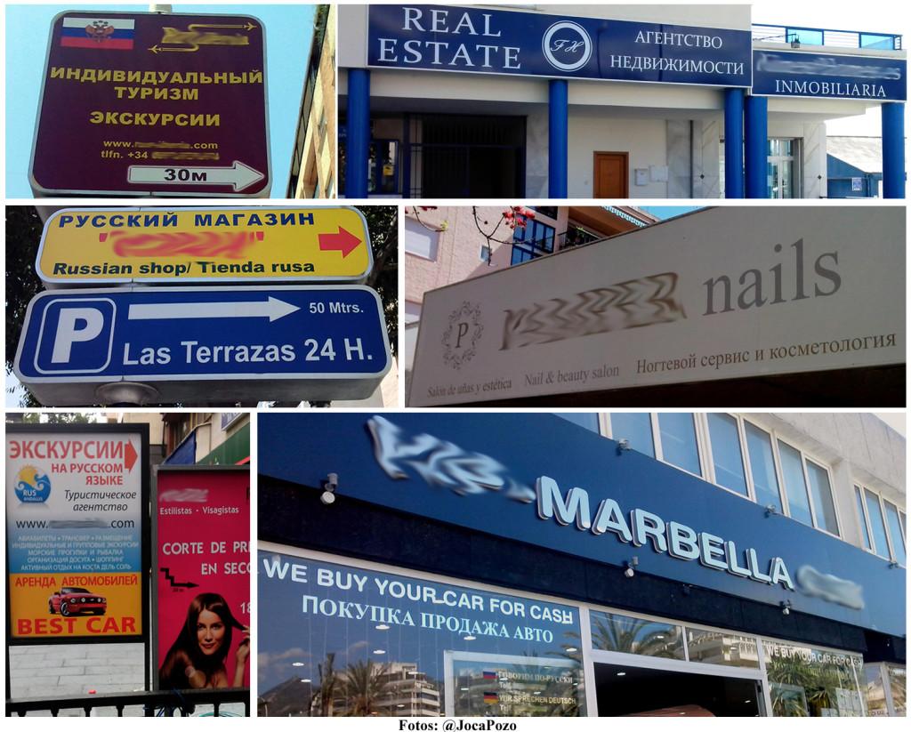 Collage Anuncios Rusos Marbella_Difuminado