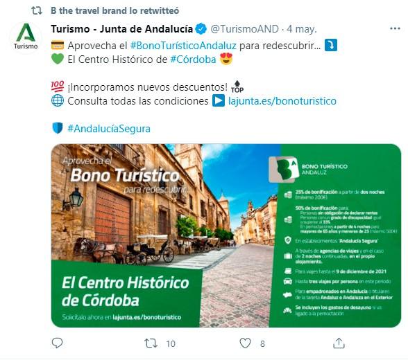 Tuit sobre el Bono Andaluz