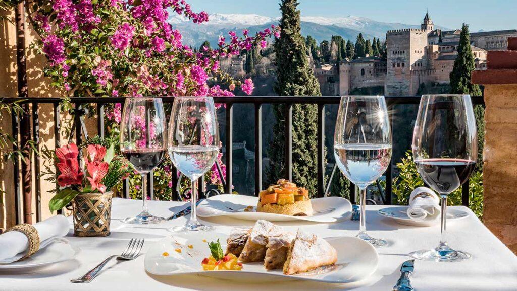 Restaurante de lujo en Granada