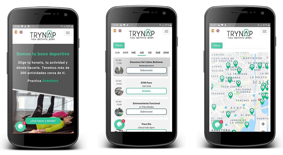 Interfaz de la aplicación TRYNAP