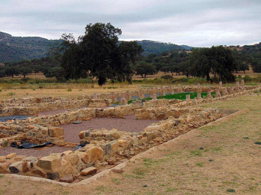 Yacimiento romano de Turóbriga (Aroche, Huelva). Detalle de una Domus (Casa)