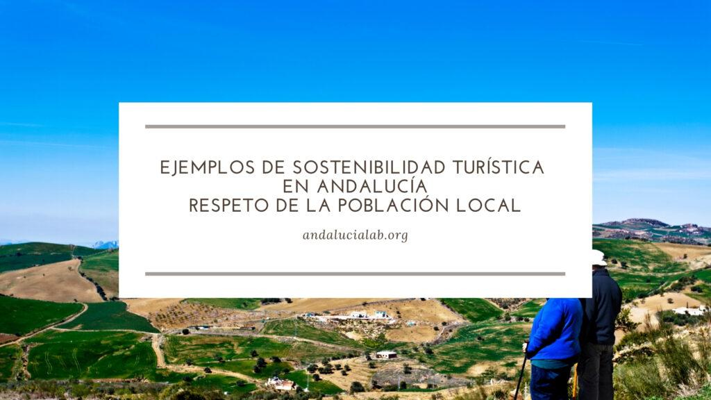 ejemplos de sostenibilidad turística en Andalucía