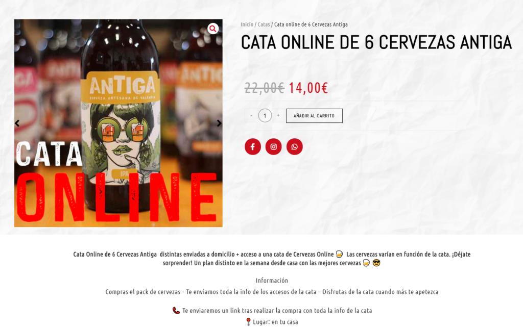 experiencia digitales cata de cervezas